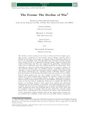 The Forum- The Decline of War.pdf