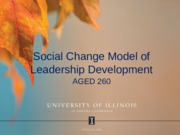 Social Change Model of Leadership
