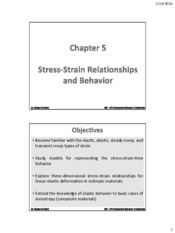 ME – 475 Chapter 5 - Stress-Strain Relationships