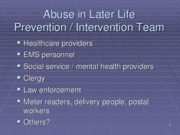 Week 6 - Abuse in Later Life - Intervention0