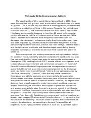We Should All Be Environmental Activists Essay - Zoe Mitchell.docx