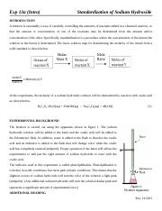 12-Exp 13a (Intro)- Standardization of Sodium Hydroxide.docx