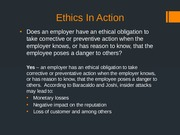 LAW 531, Week 2, Team Presentation - Ethics In Action