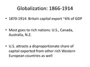Lecture 5 - globalisation