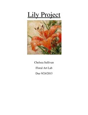 Floral Art Lily Project