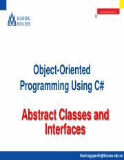 OOP@Bai 8. Abstract Classes and Interfaces.pdf