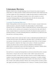 Literature Review of APS