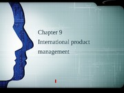 Chapter9 International product management