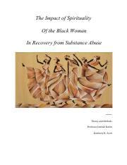 The Impact of Spirituality of Black Women in Recovery from Substance Abuse.pdf