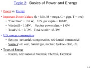 Topic 2 Basics of Energy and Power