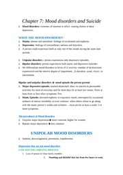 Chapter 7- mood disorders and suicide