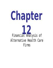 HSM 340 Chapter-12 PPT