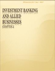 Chapter_2_Investment Banking and Allied Business