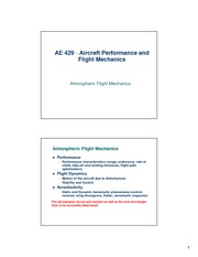 lecture 2 on Aircraft Performance and Flight Mechanics