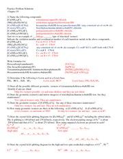 CHEM 114 - Chap 19 Practice Problem  Solutions
