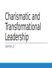 1-25-17 Charismatic and Transformational Leadership (1)