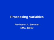 processvariables