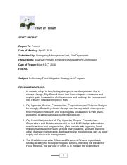 Mitigation Strategy Trillium