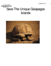 Save The Unique Galapagos Islands