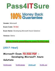 New Pass4itsure Microsoft 70-532 PDF Exam.pdf