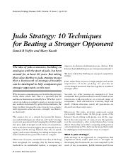 judo strategy- 10 techniques for beating a stronger opponent