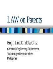 LAW on Patents.ppt