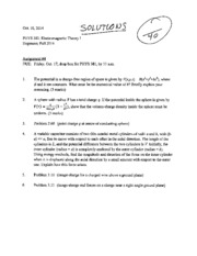 PHYS 381 Assignment 4 SOLUTIONS