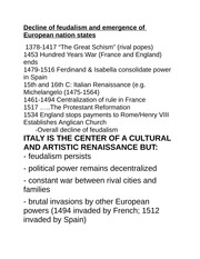fuedalism and european nation states notes