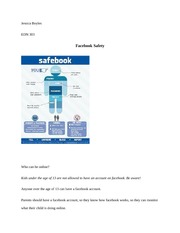 Facebook Safety Assignment