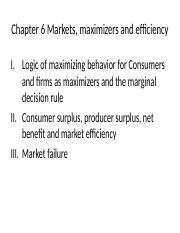 ! 1 aa econ micro ch6 spring2015-latestfinal-markets and efficiency