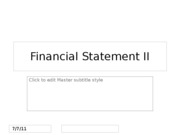 Financial Statement II
