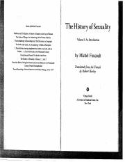 Foucault History of Sexuality