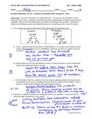 Sample Proficiency Test 2 Solution on Concepts of and representations for factoring , +, and – with