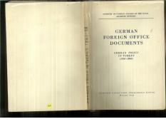 Ministry of Foreign Affairs of the USSR. Archives Division-German Foreign Office Documents. German P