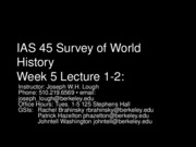 45+Week+5+Lecture+1-2 - China and Rome, Jesus Cult