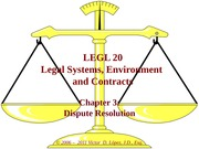 LEGL 20 - Ch 03 - Dispute Resolution
