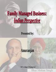 Family Managed Businesses