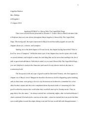 Essay- I know why the caged birds sings and how to read literature like a proffesor.docx