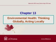 Chapter 13 - Environmental Health Fall 2013