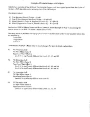 Lecture Notes on Factorial Design with Subjects
