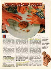 Chocolate Chip Cookie Article - Consumer Report Oct 1993