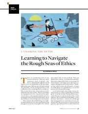 Learning to Navigate the Rough Seas of Ethics