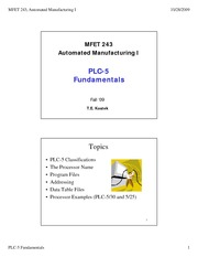 16 - PLC-5 Fundamentals - Fall 09