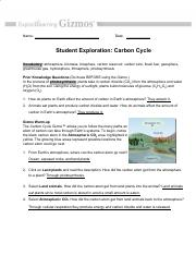 Carbon Cycle Gizmo.pdf - Name Date Student Exploration ...