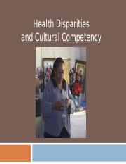 Diparities-Cultural Competency (1).ppt