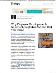 Why Employee Development Is Important, Neglected And Can Cost You Talent.pdf