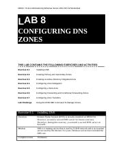 Lab Worksheet Lesson 08 Configuring DNS Zones