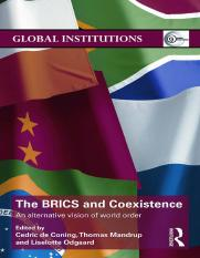 [Cedric de Coning, Thomas Mandrup, Liselotte Odgaard] The BRICS and Coexistence An Alternative Visio