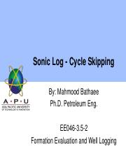 051 Sonic Log - Cycle Skipping