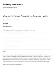 Chapter 5 Patient Education to Promote Health Nursing Test Banks.pdf